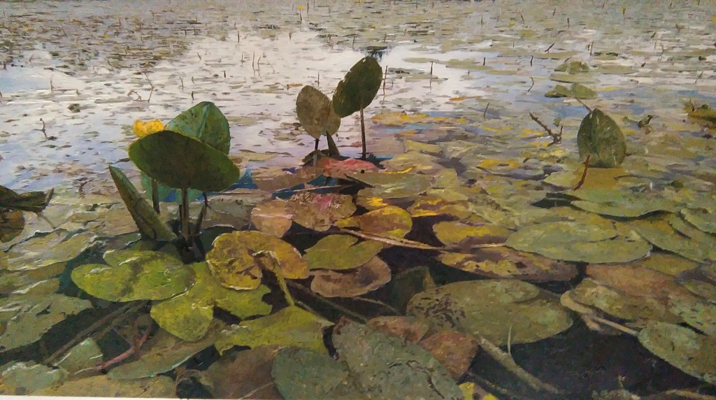 Water Lilies, hyperrealism, 450x800mm, author: