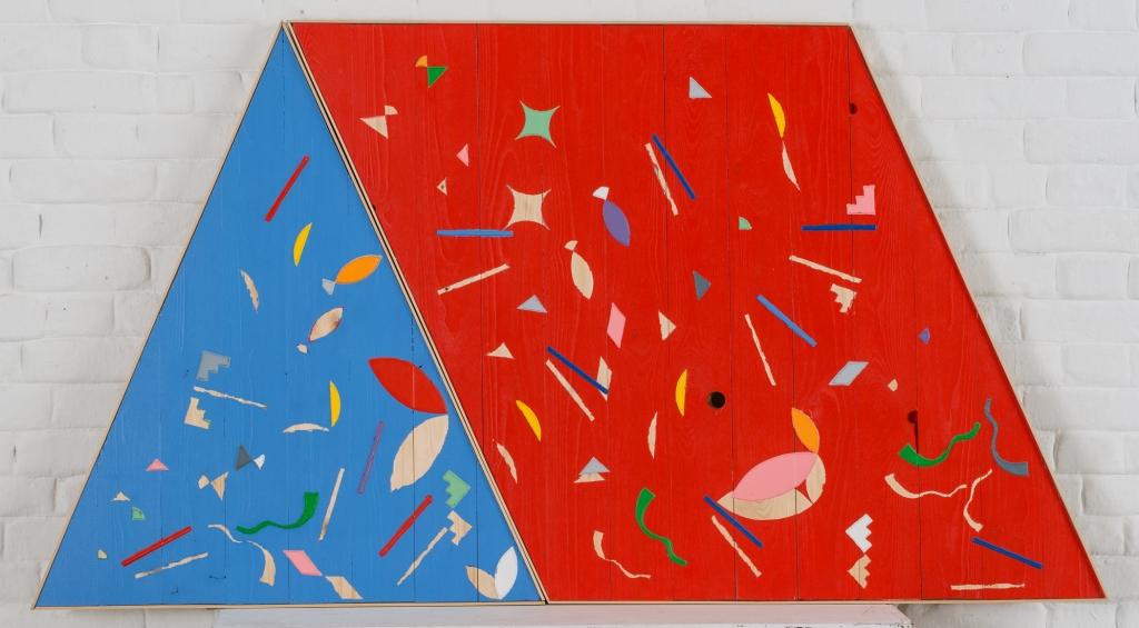 Damir Sobota: TENT, 100x160cm, painting, lak na brodskom podu,2017